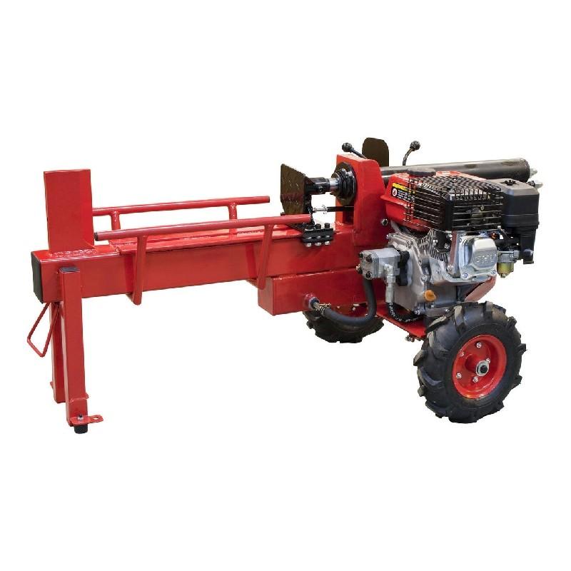 Punainen Timco halkomakone polttomoottorilla.